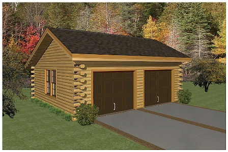 Logcabinkits choice custom prepriced cabin kits el real for Log cabin garage plans